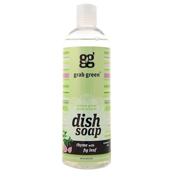 GrabGreen, Dish Soap, Thyme with Fig Leaf, 16 oz (473 ml)