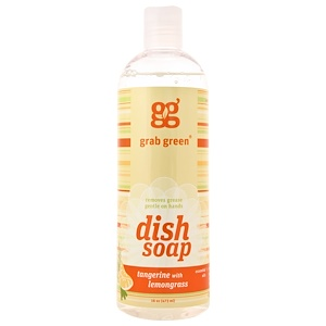 ГрэбГрин, Dish Soap, Tangerine with Lemongrass, 16 oz (473 ml) отзывы