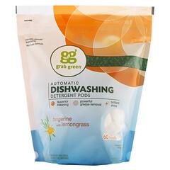 Grab Green, 自動餐具洗滌劑,橘子檸檬香型,2磅4盎司(1080克)
