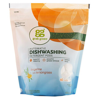 Grab Green, Detergente para Lavavajillas Automáticos, Mandarinas con Limoncillos, 2 lbs 4 oz (1080 g)