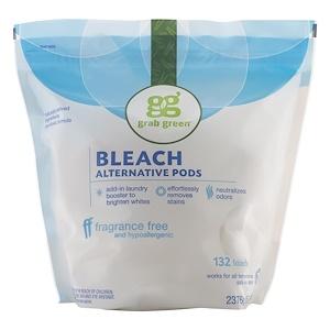 ГрэбГрин, Bleach Alternative Pods, Fragrance Free, 132 Loads, 5lbs, 4oz (2,376 g) отзывы