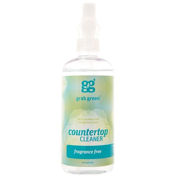 GrabGreen, Counter Top Cleaner, Fragrance Free, 16 oz (473 ml) (Discontinued Item)