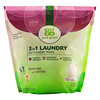 Grab Green, 3-in-1 Laundry Detergent Pods, Lavender with Vanilla, 132 Loads, 5 lbs 4 oz (2376 g)