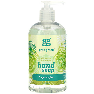Купить Grab Green Мыло для рук, без запаха, 12 унций (355 мл)