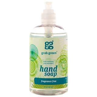 Grab Green, Hand Soap, Fragrance Free, 12 oz (355 ml)