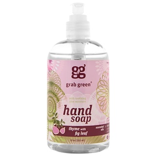 GrabGreen, Hand Soap, Thyme with Fig Leaf, 12 oz (355 ml)