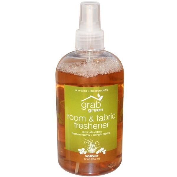 Grab Green, Room & Fabric Freshener, Vetiver, 12 oz (355 ml) (Discontinued Item)