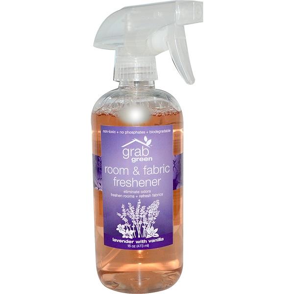 GrabGreen, Room & Fabric Freshener, Lavender, 16 oz (473 ml) (Discontinued Item)