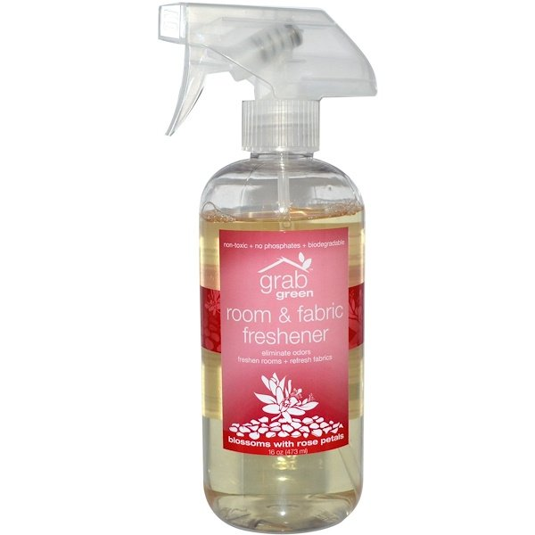 Grab Green, Room & Fabric Freshener, Blossoms With Rose Petals, 16 oz (473 ml) (Discontinued Item)