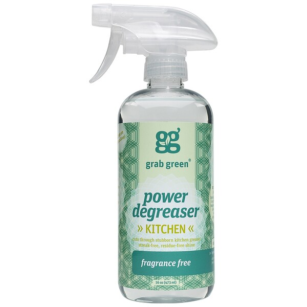 Grab Green, Power Degreaser, Fragrance Free, 16 oz (473 ml)