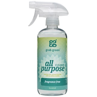 GrabGreen, All Purpose Cleaner, Fragrance Free, 16 oz (473 ml)