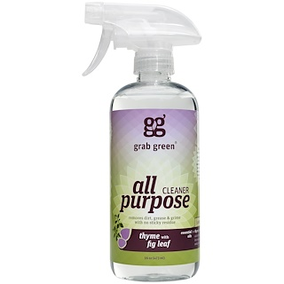 GrabGreen, All Purpose Cleaner, Thyme with Fig Leaf, 16 oz (473 ml)