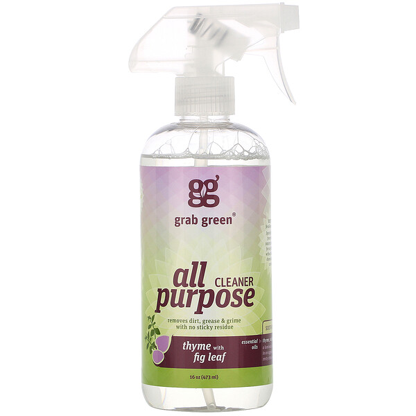 Grab Green, All Purpose Cleaner, Thyme with Fig Leaf, 16 oz (473 ml)