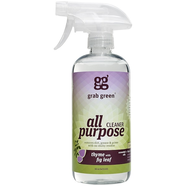Grab Green, All Purpose Cleaner, Thyme with Fig Leaf, 16 oz (473 ml) (Discontinued Item)