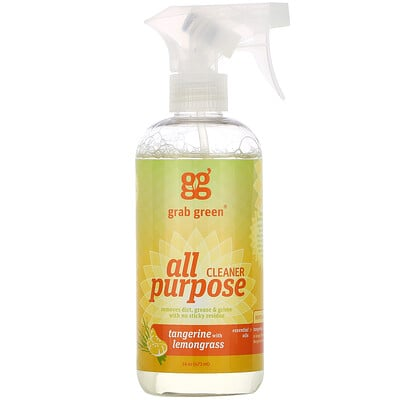 Купить Grab Green All Purpose Surface, Tangerine with Lemongrass, 16 oz (473 ml)