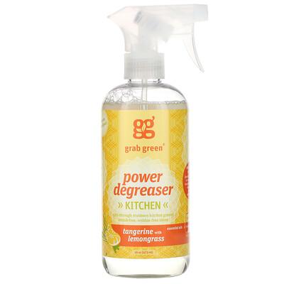 Купить Grab Green Kitchen Power Degreaser, Tangerine with Lemongrass, 16 oz (473 ml)