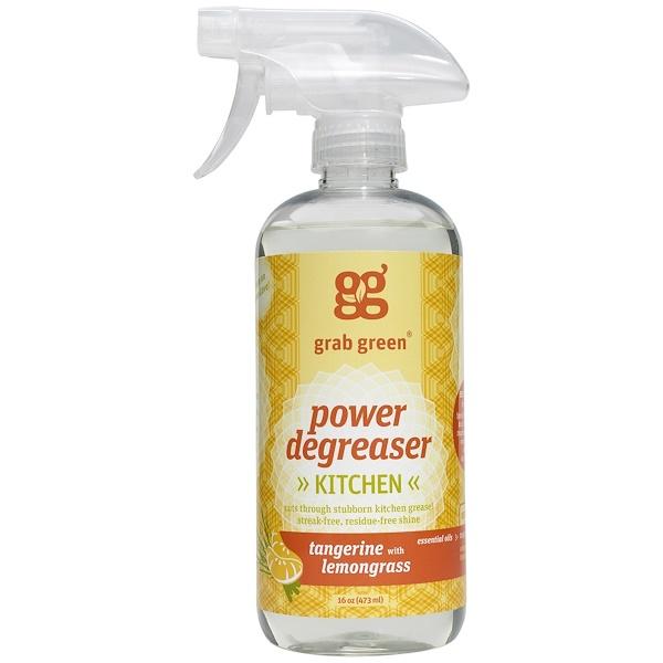 Grab Green, Power Degreaser, Tangerine With Lemongrass, 16 oz (473 ml)