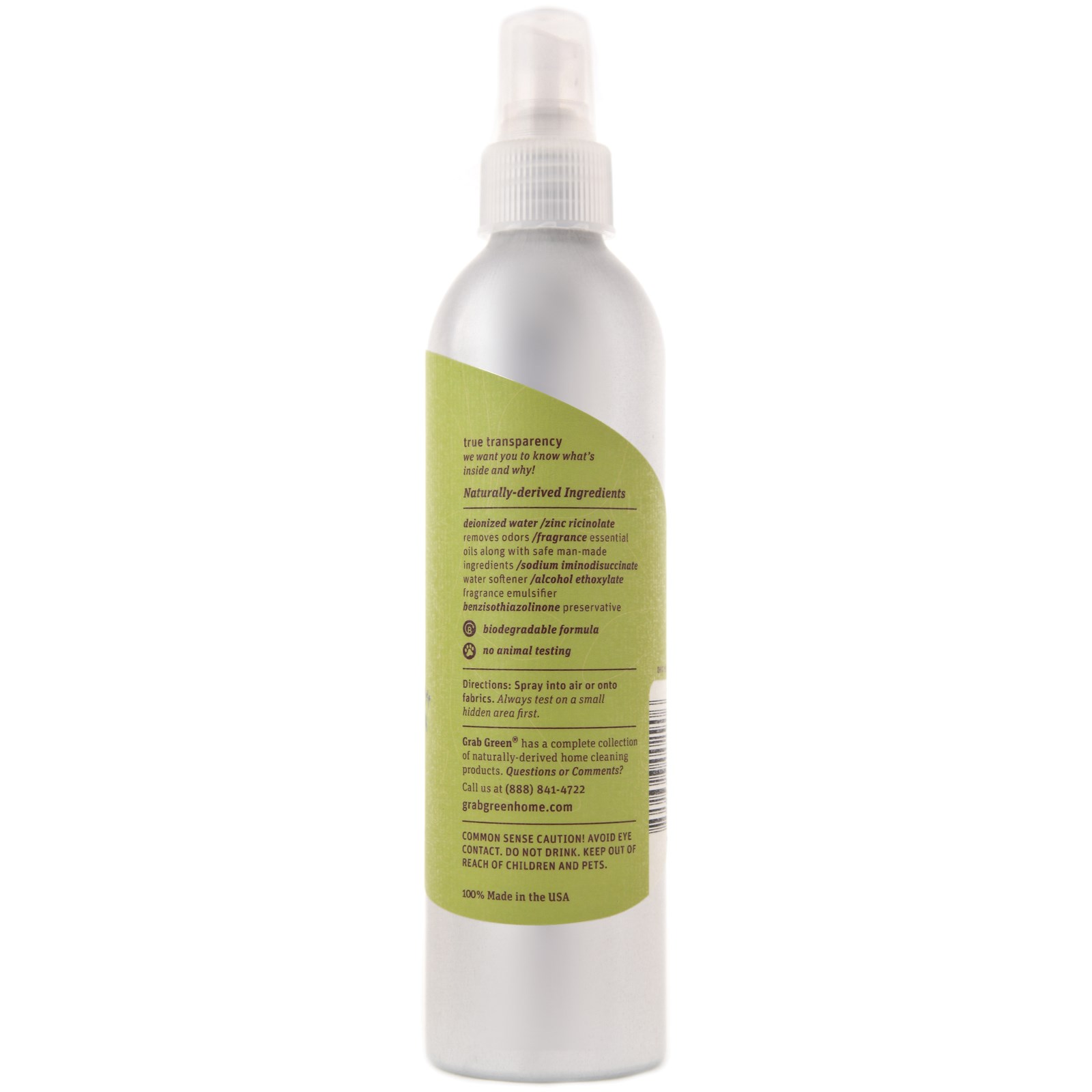 7 Ounce Bottle Vetiver 3-Pack Phthalate-Free Room /& Fabric Freshener Grab Green Naturally-Derived