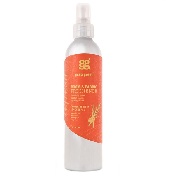 Grab Green, Room & Fabric Freshener, Tangerine With Lemongrass, 7 oz (207 ml) (Discontinued Item)
