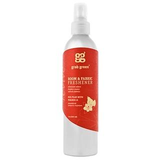 GrabGreen, Désodorisant de salle et de tissu, Poire rouge avec Magnolia, 7 oz (20 ml)