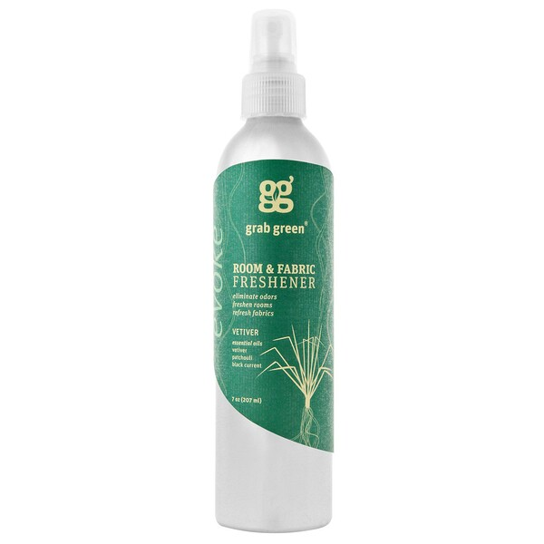Grab Green, Room & Fabric Freshener, Vetiver, 7 oz (207 ml)