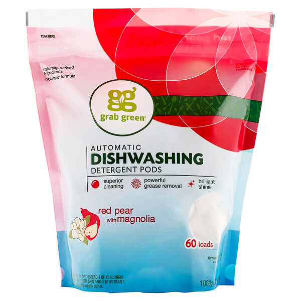 Automatic Dishwashing Detergent Pods, Red Pear with Magnolia, 60 Loads, 2 lbs 4 oz (1,080 g)