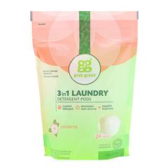 GrabGreen, 3-in-1 Laundry Detergent Pods, Gardenia, 24 Loads, 13.5 oz (384 g)