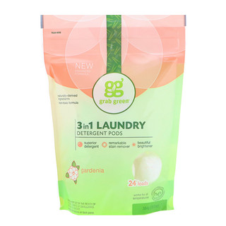 Grab Green, 3-in-1 Laundry Detergent Pods, Gardenia, 24 Loads, 13.5 oz (384 g)