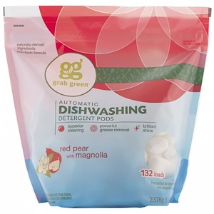 ГрэбГрин, Automatic Dishwashing Detergent Pods, Red Pear with Magnolia, 132 Loads, 5 lbs 40 oz (2376 g) отзывы