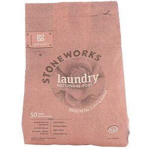 ГрэбГрин, Stoneworks, Laundry Detergent Pods, Rose Petal, 50 Loads, 1.65 lbs (750 g) отзывы покупателей