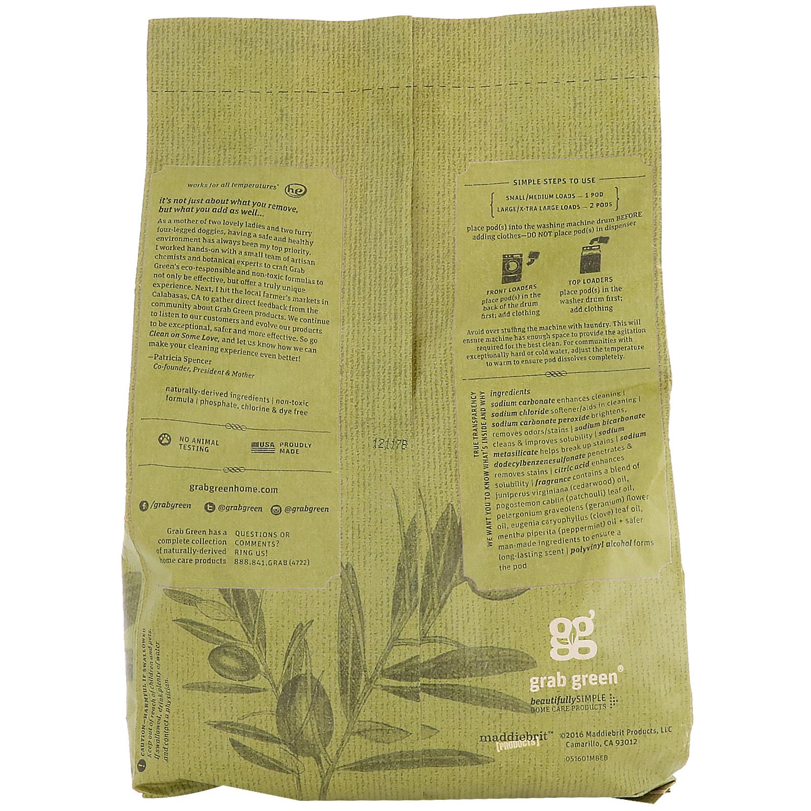 grabgreen stoneworks dosettes de lessive feuille d olivier 50 lessives 750 g 1 65 lb. Black Bedroom Furniture Sets. Home Design Ideas