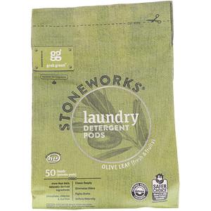 ГрэбГрин, Stoneworks, Laundry Detergent Pods, Olive Leaf, 50 Loads, 1.65 lbs (750 g) отзывы