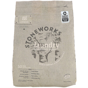 ГрэбГрин, Stoneworks, Laundry Detergent Pods, Birch Branch, 50 Loads, 1.65 lbs (750 g) отзывы покупателей