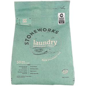 ГрэбГрин, Stoneworks, Laundry Detergent Pods, Rain, 50 Loads, 1.65 lbs (750 g) отзывы