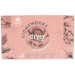 ГрэбГрин, Stoneworks, Dryer Sheets, Rose Petal, 50 Sheets отзывы