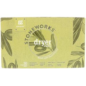 ГрэбГрин, Stoneworks, Dryer Sheets, Olive Leaf, 50 Compostable Sheets отзывы