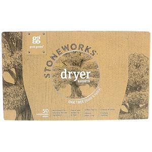ГрэбГрин, Stoneworks Dryer Sheets, Oak Tree, 50 Compostable Sheets отзывы