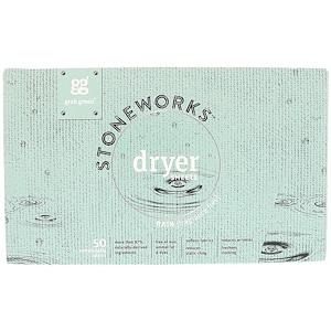 ГрэбГрин, Stoneworks, Dryer Sheets, Rain, 50 Compostable Sheets отзывы