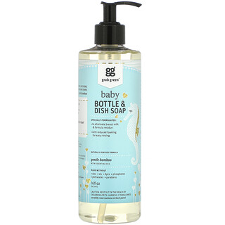 Grab Green, Baby Bottle & Dish Soap, 16 oz (473 ml)