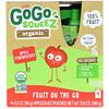 GoGo SqueeZ, Органическое яблочное пюре, яблоко и клубника, 4 пакетика по 3,2 унц. (90 г)