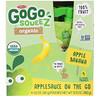 GoGo SqueeZ, Органическое яблочное пюре, яблоко и банан, 4 пакетика по 3,2 унц. (90 г)