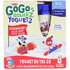 GoGo SqueeZ, YogurtZ, клубника, 4 пакетика по 3 унц. (85 г)