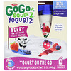 GoGo SqueeZ, YogurtZ, ягоды, 4 пакетика по 3 унц. (85 г)