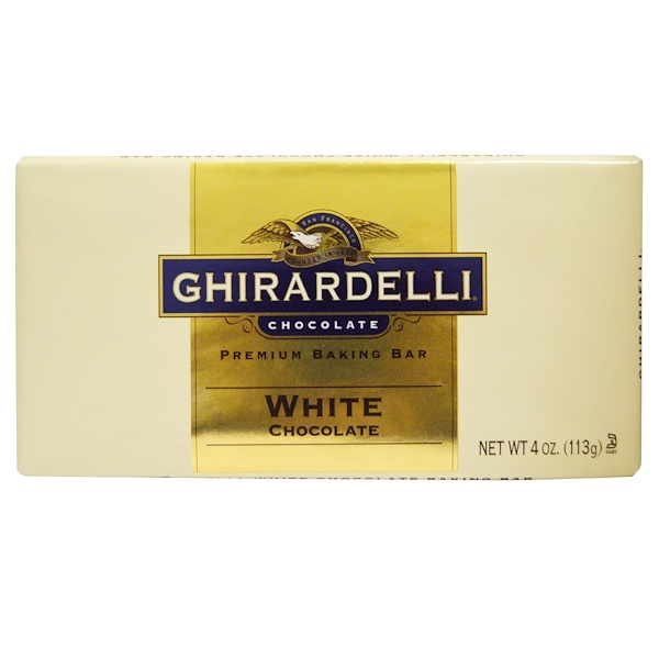 Ghirardelli, Premium Baking Bar, White Chocolate, 4 oz (113 g) (Discontinued Item)