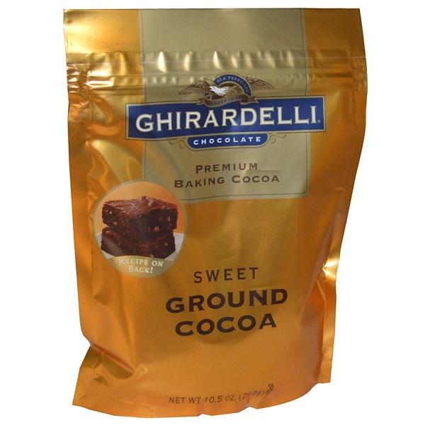 Ghirardelli, ギラデリ、プレミアムベーキングココア、甘味のあるココア粉末、10.5オンス(298 g) (Discontinued Item)