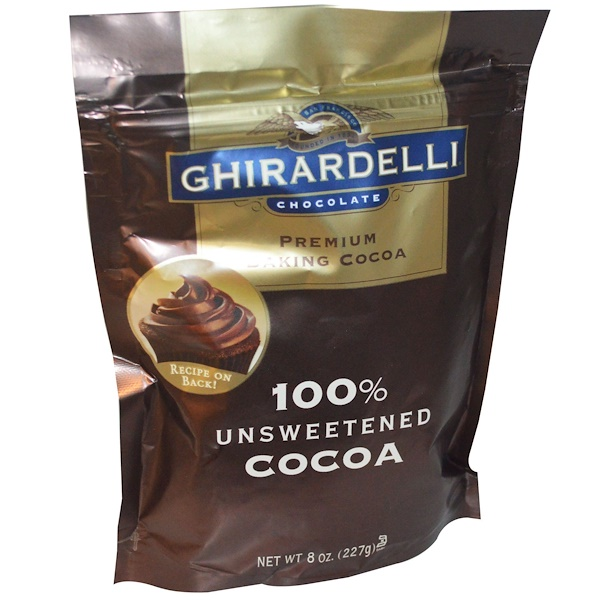 Ghirardelli, Premium Baking Cocoa, Unsweetened Ground Cocoa, 8 oz (227 g)