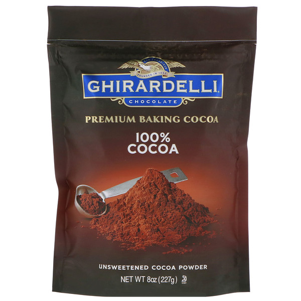 Ghirardelli, Premium Baking 100% Cocoa, Unsweetened Cocoa Powder, 8 oz (227 g) (Discontinued Item)