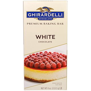 Ghirardelli, Белый шоколад высшего сорта для выпечки, 4 унции (113,5 г)