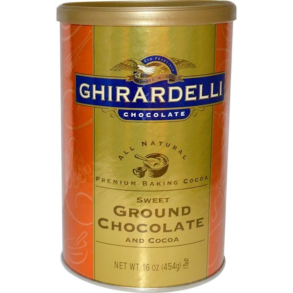 Ghirardelli, Premium Baking Cocoa, Sweet Ground Chocolate and Cocoa, 16 oz (454 g) (Discontinued Item)
