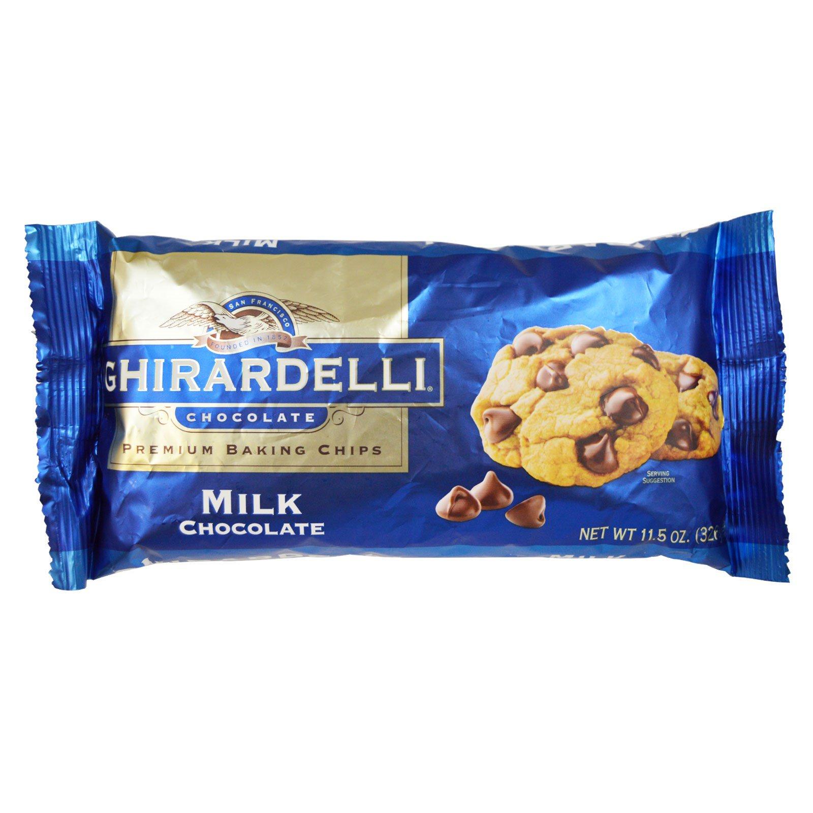 Ghirardelli, Кусочки молочного шоколада для выпечки высшего качества, 326 г